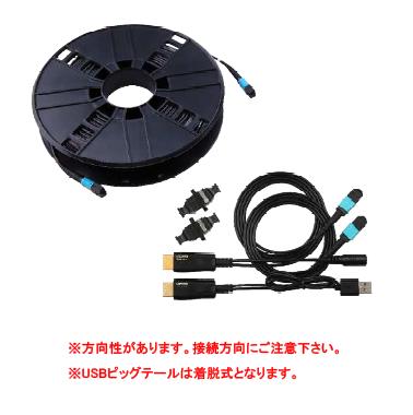 高画質映像の長距離伝送を実現! MPOコネクタ付き光ファイバーケーブル「Full Fiber HDMI 2.0」